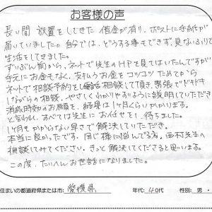 自分では、どうする事もできず、見ないふりで生活してきました【愛媛県 40代 女性】